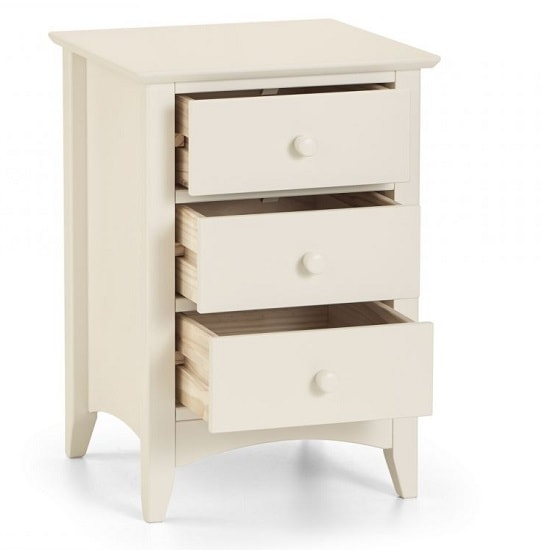 Amani Bedside Cabinet In Stone White With 3 Drawers_2