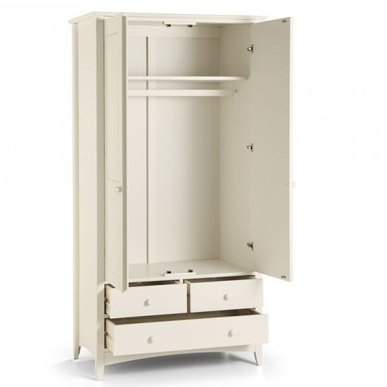 Amani Combi Wardrobe In White With  2 Doors 3 Drawers_2
