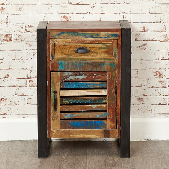 London Urban Chic Wooden Bedside Cabinet With 1 Door_4