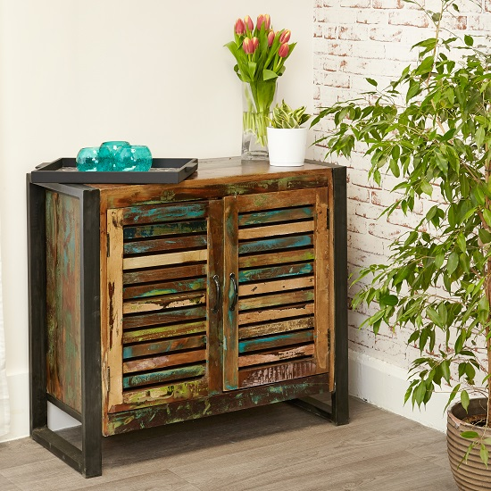 London Urban Chic Wooden Small Sideboard With 2 Doors