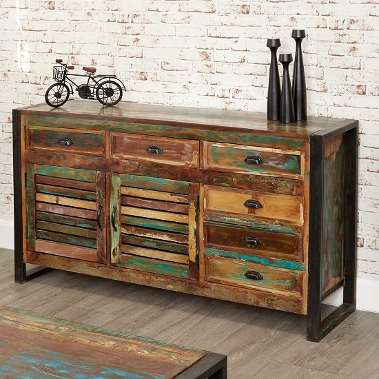 London Urban Chic Wooden Large Sideboard With 2 Doors