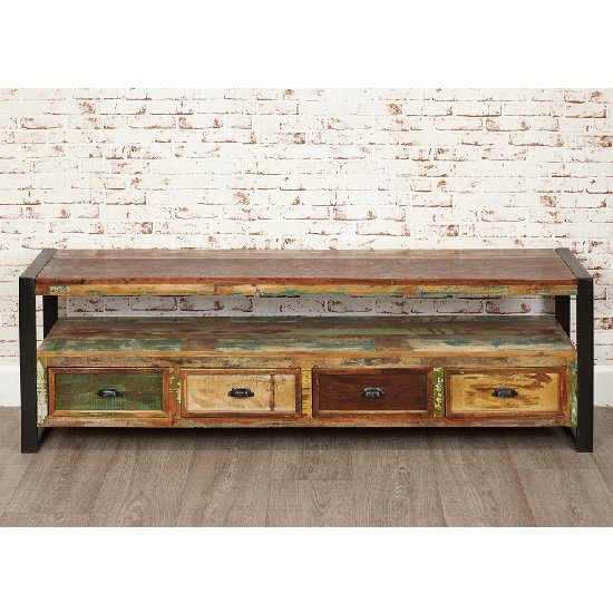 London Urban Chic Wooden Large TV Stand With 4 Drawers_3