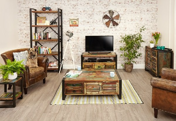London Urban Chic Wooden TV Stand With 3 Drawers_6