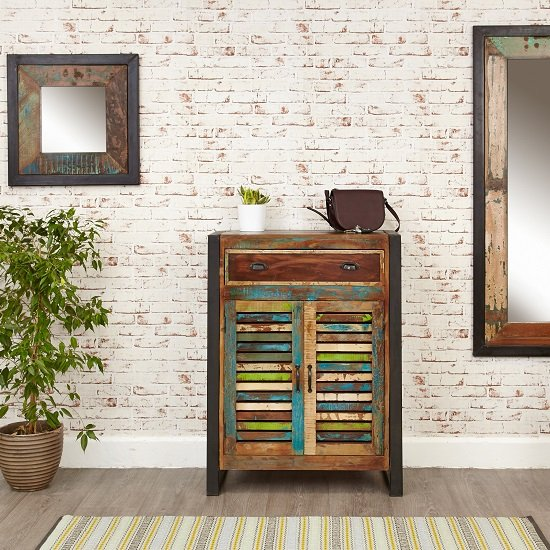 London Urban Chic Wooden Shoe Cabinet With 2 Doors_3