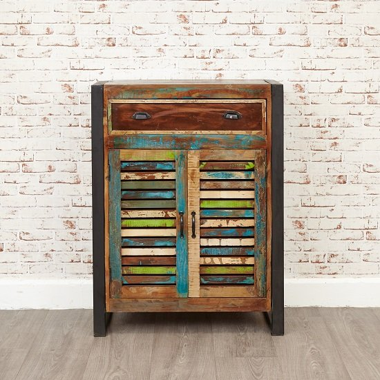 London Urban Chic Wooden Shoe Cabinet With 2 Doors_5