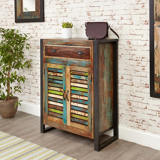 London Urban Chic Wooden Shoe Cabinet With 2 Doors 27705