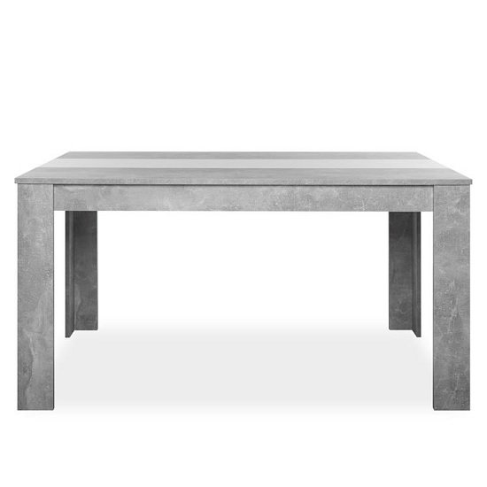 Amarelo Dining Table In Structured Concrete With White And Black_1