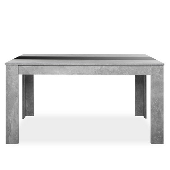 Amarelo Dining Table In Structured Concrete With White And Black_2