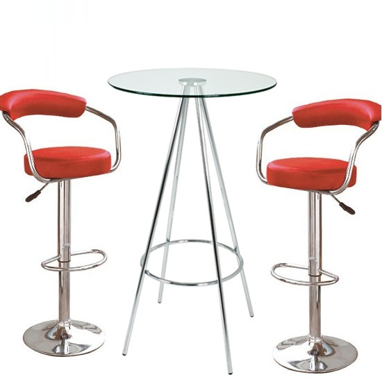 Red Bar Table Stool Set - home decor - Laux.us