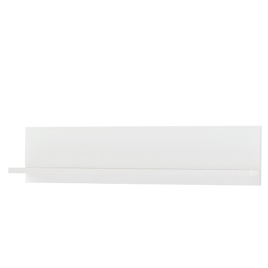 Amber Wall Mounted Display Shelf In White And Glass_1