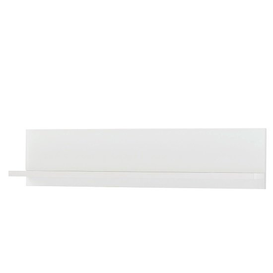 Amber Wall Mounted Display Shelf In White And Glass