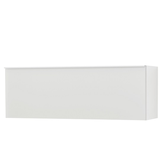 Amber Wall Mounted Storage Cabinet In White With Glass Fronts_3