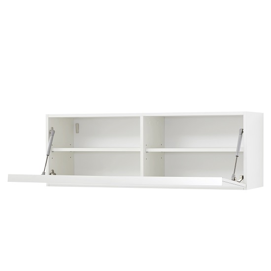Amber Wall Mounted Storage Cabinet In White With Glass Fronts_2