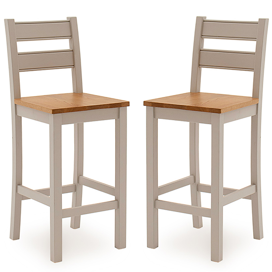 Amberly Grey Wooden Bar Stools With Solid Seat In Pair_1