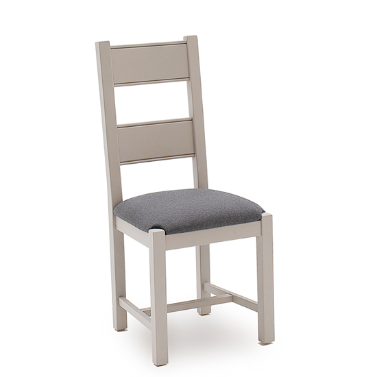 Amberly Wooden Dining Chair In Grey