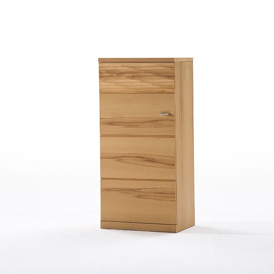 Amble Wooden Left Storage Cabinet In Core Beech With 1 Door