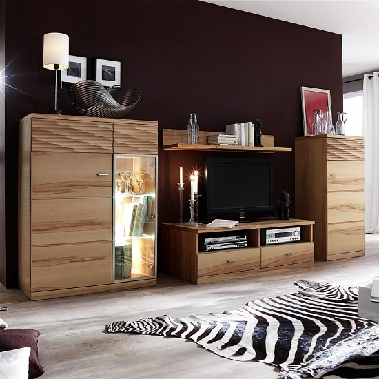 Amble Wooden Right Storage Cabinet In Core Beech With 1 Door_3