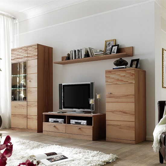 Amble Wooden Right Storage Cabinet In Core Beech With 1 Door_5