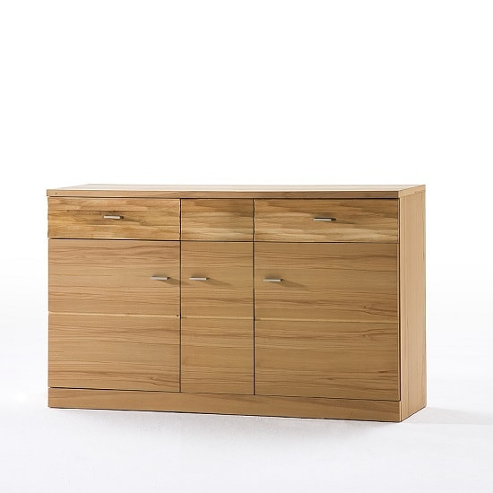 Amble Wooden Sideboard In Core Beech With 3 Doors