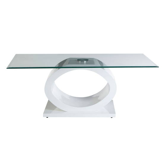 Amelia Glass Coffee Table With White High Gloss Wooden Base_2