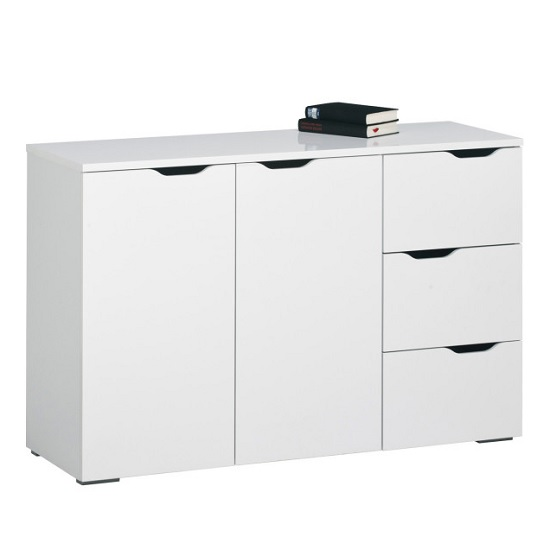 Amelie Modern Sideboard In White High Gloss