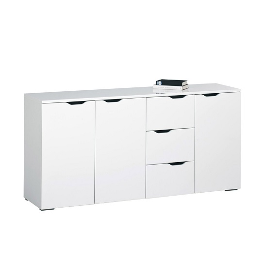 Amelie Modern Sideboard Wide In White High Gloss