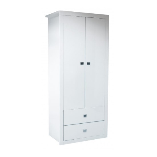 Amentis Wardrobe In White High Gloss With 2 Doors
