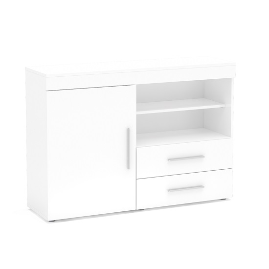 Amerax Wooden Sideboard In White High Gloss With 1 Door_2