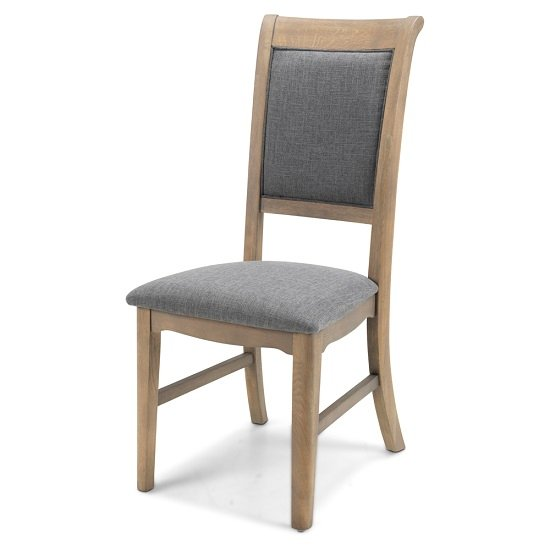 Ametis Wooden Dining Chair In Grey Washed Oak