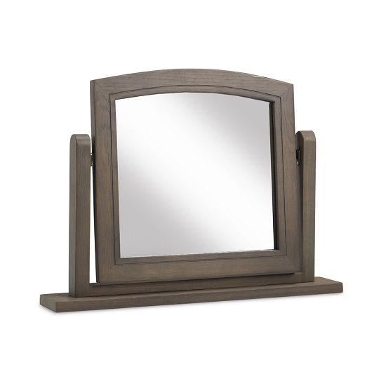 Ametis Wooden Dressing Table Mirror In Grey Washed Oak_1
