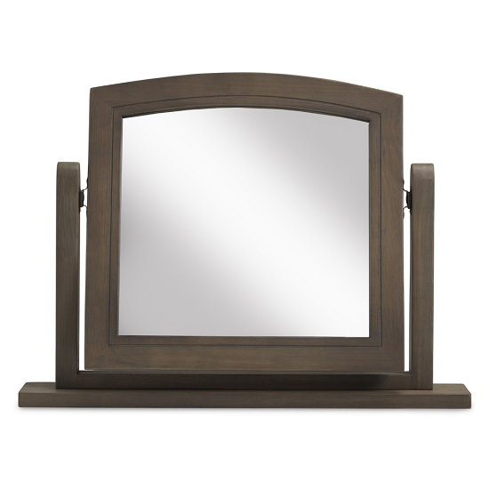 Ametis Wooden Dressing Table Mirror In Grey Washed Oak_2