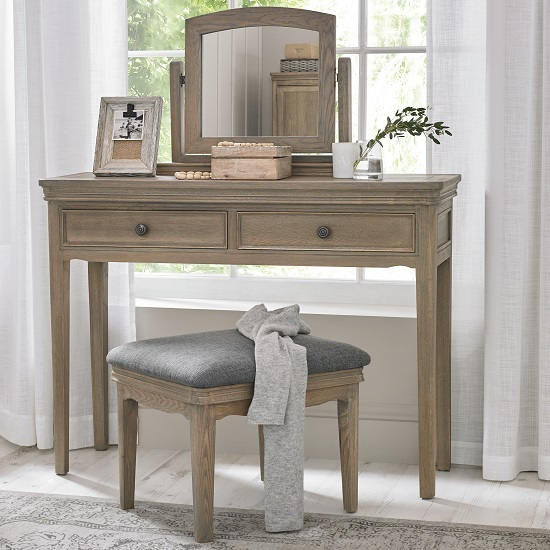 Ametis Wooden Dressing Table Mirror In Grey Washed Oak_3