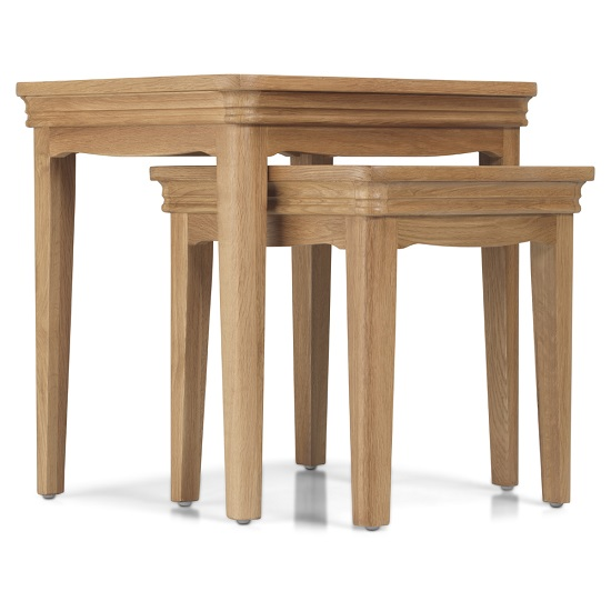 Ametis Wooden Nest Of 2 Tables In Oak_2