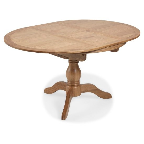 Ametis Pedestal Extendable Dining Table Oval In Oak