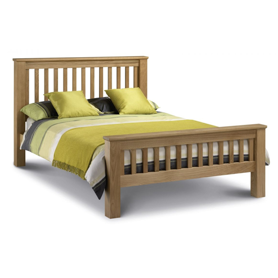 Amsterdam Wooden High Foot End Double Bed In Oak