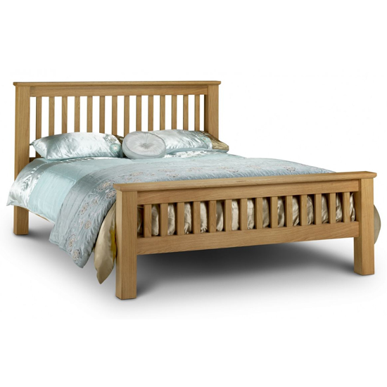 Amsterdam Wooden High Foot End King Size Bed In Oak