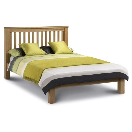Amsterdam Wooden Low Foot End King Size Bed In Oak