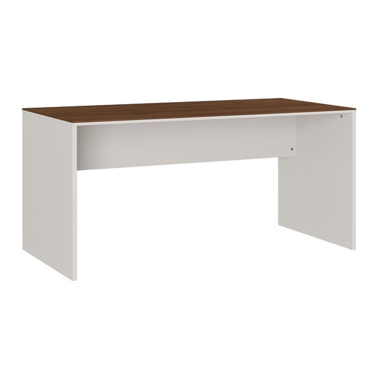 Ancona Laptop Desk In Cashmere And Walnut