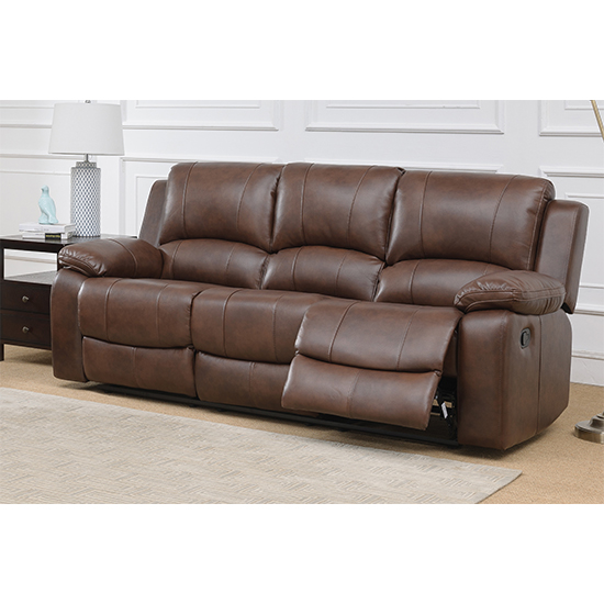 Andalusia Leather 2 Seater And 3 Seater Sofa Suite In Whiskey_3