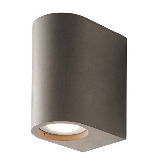 Anders Plaster Wall Light In Grey