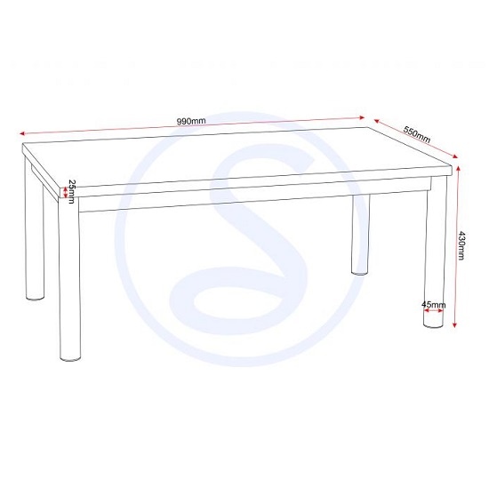 Andi Coffee Table In White Gloss With Chrome Legs_2