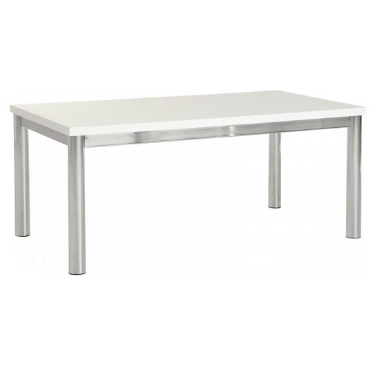 View Andi coffee table in white gloss with chrome legs