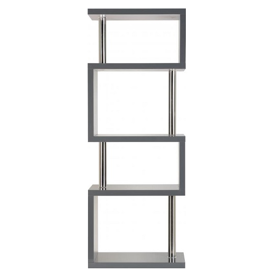 Andi Wooden Five Tier Shelving Unit In Grey Gloss_2