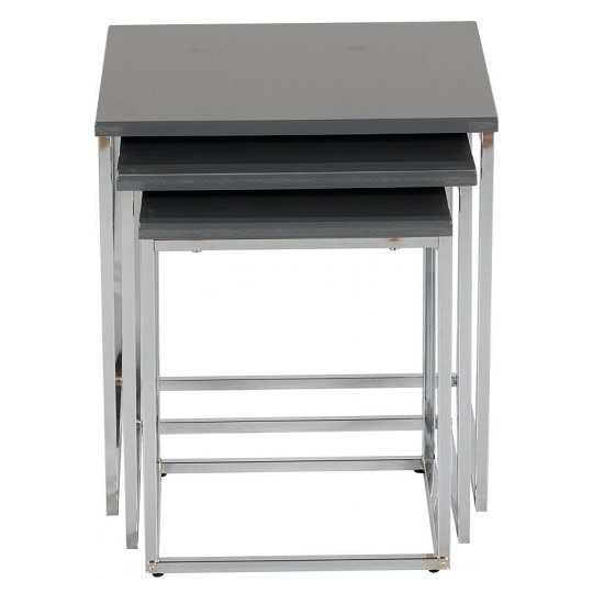 Andi Nest Of Tables In Grey Gloss With Chrome Legs_2