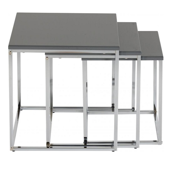 Andi Nest Of Tables In Grey Gloss With Chrome Legs_3