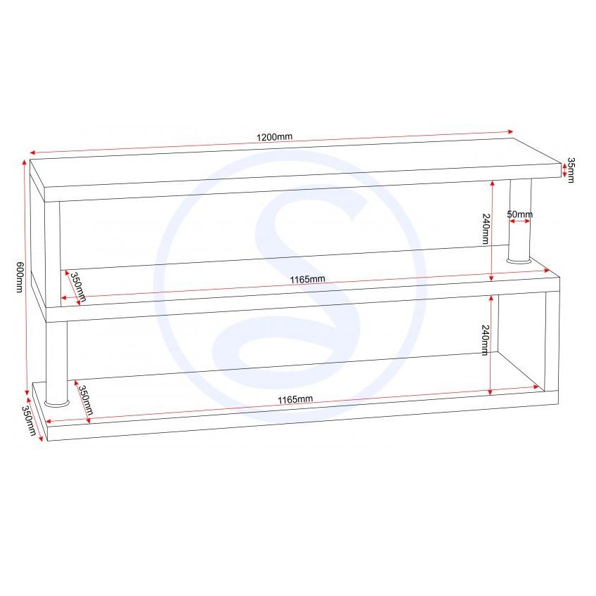 Andi TV Stand In White Gloss With Chrome Poles_2