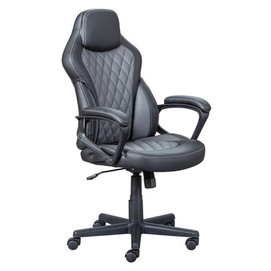 Ando Faux Leather Home And Office Executive Chair In Black