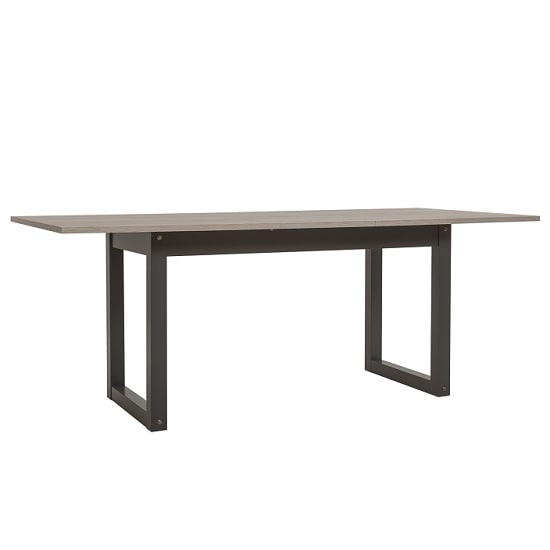 Andora Extendable Dining Table In Sorrento Oak And Anthracite