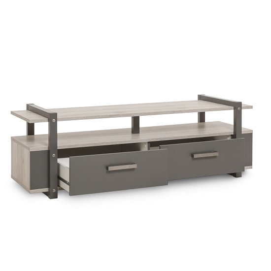 Andora Wooden TV Stand In Sorrento Oak And Anthracite_2