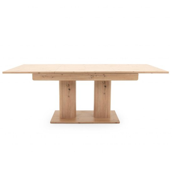 Andorra Wooden Extendable Dining Table In Artisan Oak